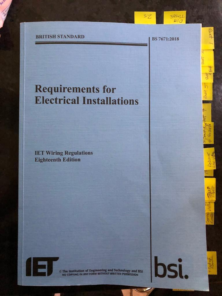 Bs 7671 New 18th Edition In Caerphilly Gumtree British Standard Requirements For Electrical Installations