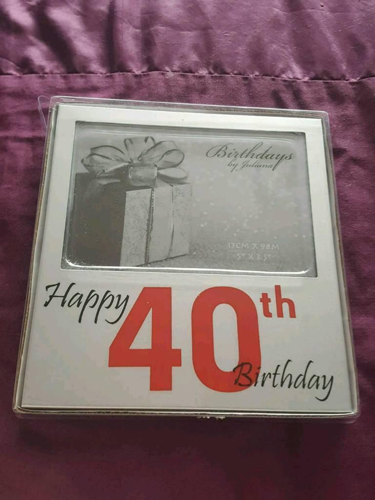 40th birthday frame
