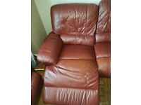 2 and 3 seater leatger recliner sofas
