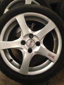 "16"" oz alloy wheels 4x108 PCD et42"