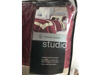 Catherine Lansfield super king size duvet, bedspread and curtains