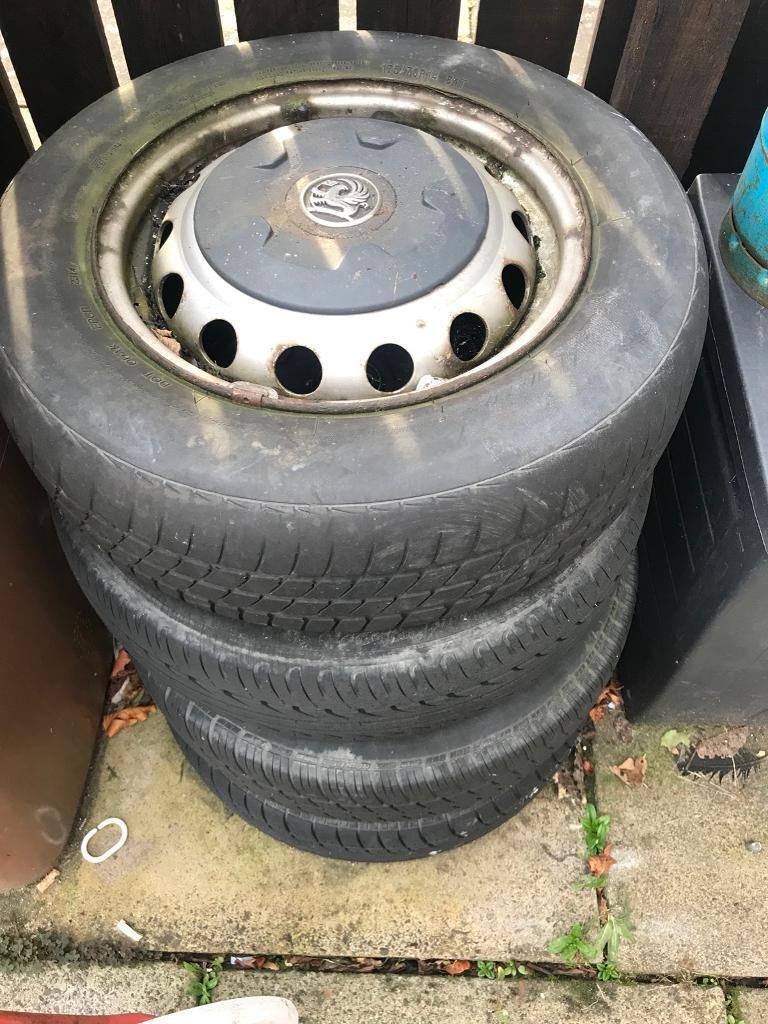 Vauxhall combo 4x100 steel wheels