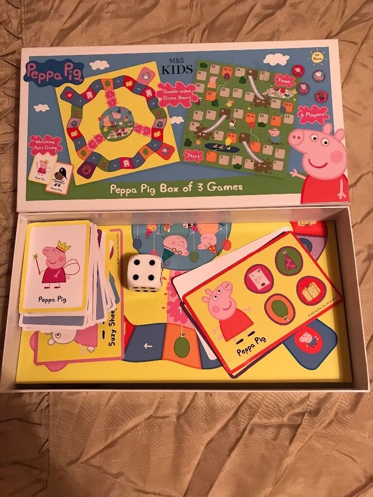 Peggy pig 3 in 1 games box