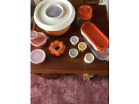 Job Lot of Vintage Tupperware Orange Collection Plus New and used