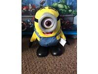 2 talking and moving minion toys