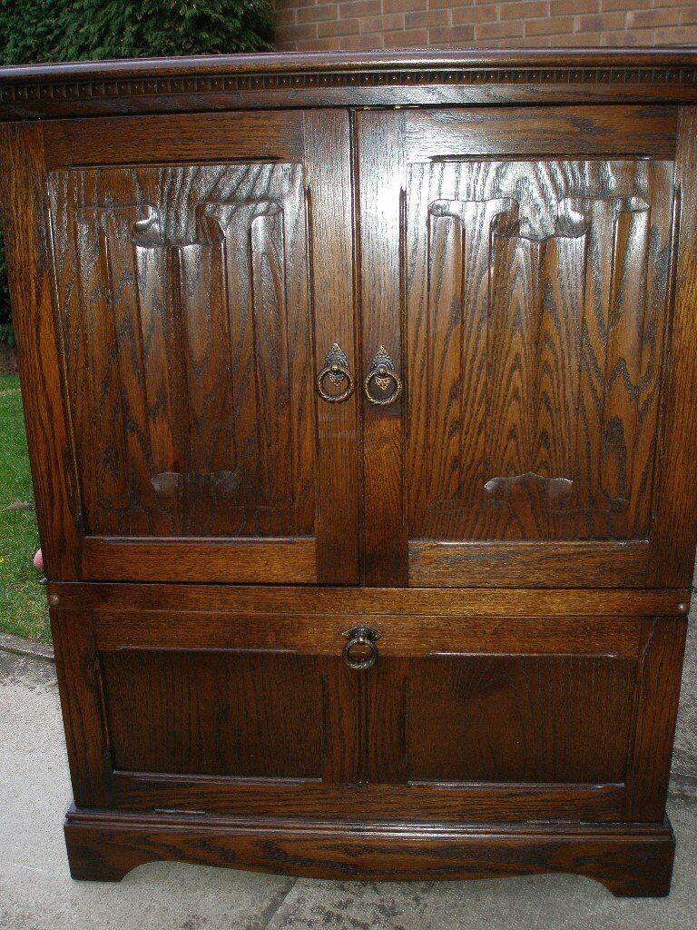 Jaycee Linen Fold TV Media Cabinet Cupboard   in Edenthorpe ...