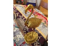 Oliver Bonas, Gold Flamingo Stand (Ideal Wedding Table Decoration or Jewellery Stand) x 8