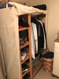 Canvas wardrobe. Collection only