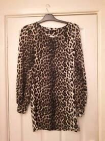Size 10 leopard print top