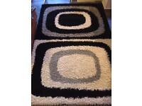 Large, deep pile rug