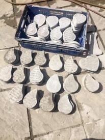 Carboot joblot of concrete memorials
