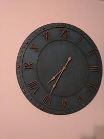 Large wall clock blue/green collection only