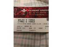 Wales vs Tonga tickets