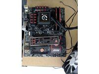 Z97 MSI Gaming 5 Mobo + 16gb RAM + H100 AIO £140