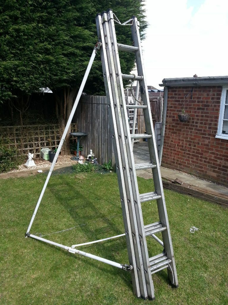 Professional Triple Compact Extension Ladder And Free