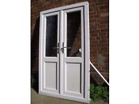 ZENITH WHITE UPVC DOUBLE GLAZED OUTWARD OPENING FRENCH DOORS