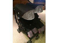 Maclaren twin double stroller pushchair and accessories