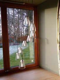 Light - Pendant light fitting with 8 adjustable lights double shade- New