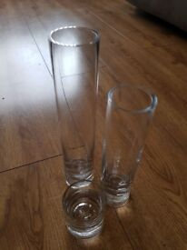 cylinder vases- table centrepieces, weddings, home, 7 full sets