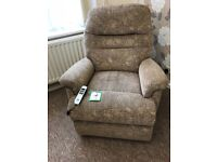 Electric lift and rise reclining chair for sale