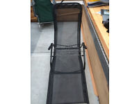 Two sun loungers, black, never used, perfect working order