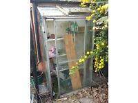 lean-to greenhouse - small in need of repair FREE - MUST DISMANTLE ideal for proje t or recycling
