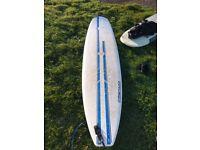 Mini-mal Surfboard 7 foot 8. Great for beginners.