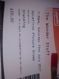 Wonderstuff ticket for sale