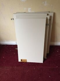 6 Used Kitchen Wall cabinets doors