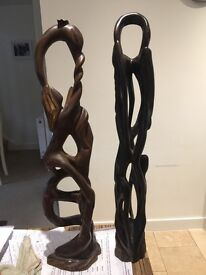 Cuban solid wooden carvings