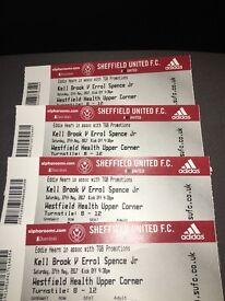 Kell Brook v Errol Spence Jr tickets £270 4 tickets