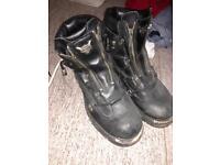 Harley davidson boots (size 10)