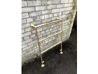 Brass towel heater