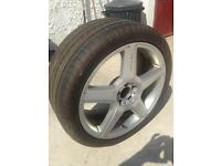 20'' Dunlop tyre and alloy