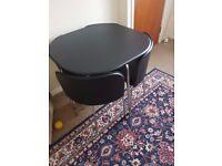 Hygena Amparo Dining Table & 4 Chairs - Black £50ono