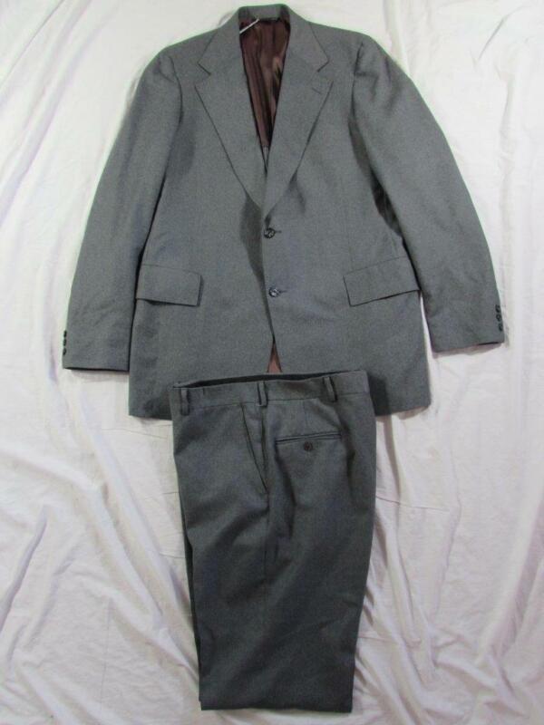 Vtg 60s 70s Seinsheimer 2 Pc Gray Wool Blend Suit Jacket & Pants Hollywood