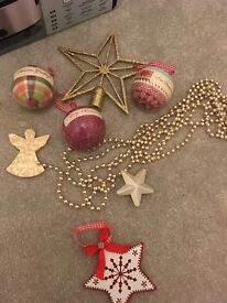 Job lot of NEXT Christmas decorations
