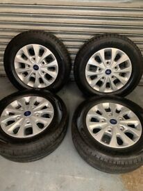 New Ford Custom Alloys and factory goodyear l tyres 2020 only 100 delivery miles so like new !
