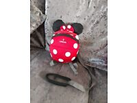 Minnie mouse bag with reins