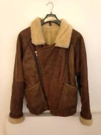 Excellent sheepskin leather flying jacket size M