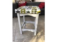 Kitchen stools covered in Orla Kiely pattern