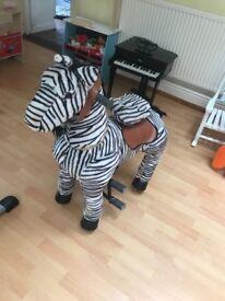 Ride on zebra