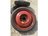 Saab spacesaver wheel and tyre