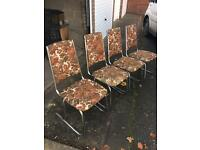 1960s chrome chairs