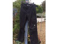 Boys (16yrs) black ski pants/ salopettes