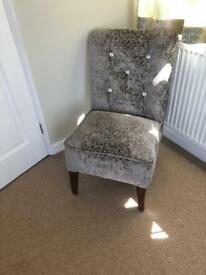 Reloved bedroom chair (reupholstered and deep buttoned)