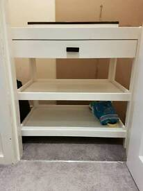 Baby nursery cot and baby changer