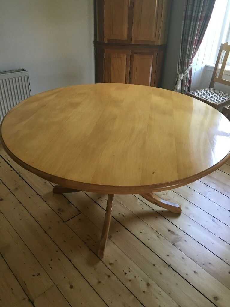 Yellow Wood Round Dining Table In Auchterarder Perth