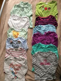 Girls long sleeve blouses size 2-3 years