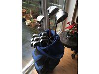 Golf Clubs, Lynx, Full set including putter, 3 drivers, Lynx Caddybag, Dunlop Trolley